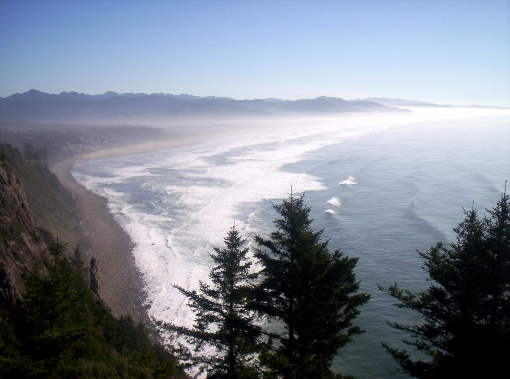 View of the Pacific Ocean from Neahkahnie Mountain